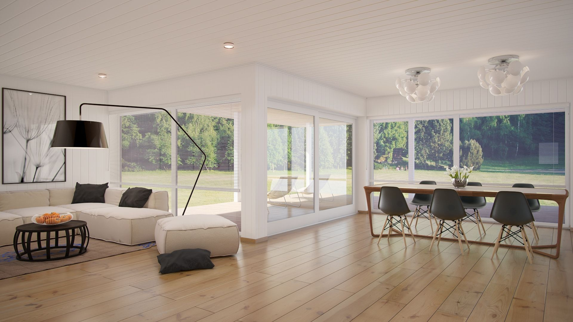 White gray open plan living area | Dwell - Interior ...