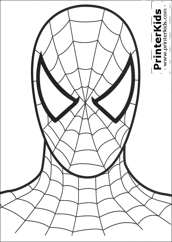 The Amazing Spiderman Mask Coloring Pages
