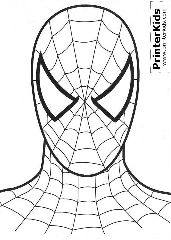 Amazing SpiderMan Pages Printable Printable Spiderman Mask