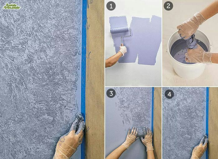 Pintar paredes tecnicas de pintura pinterest pintar - Tecnica para pintar paredes ...