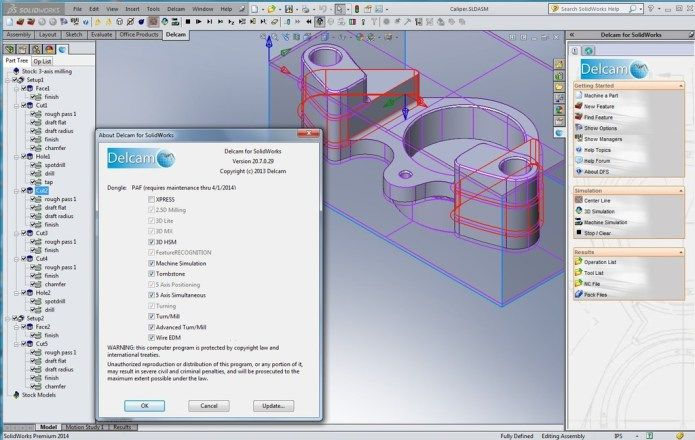 photo Working with Delcam v20 7 0 29 for SolidWorks 32bit