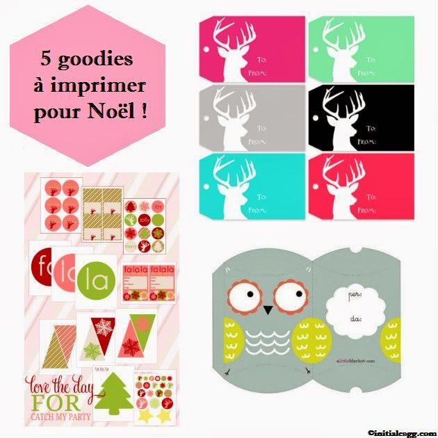 ♥ 5 goodies à imprimer pour Noël ♥