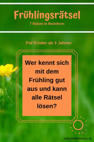 Photo of Frühlingsrätsel – kinderklacks