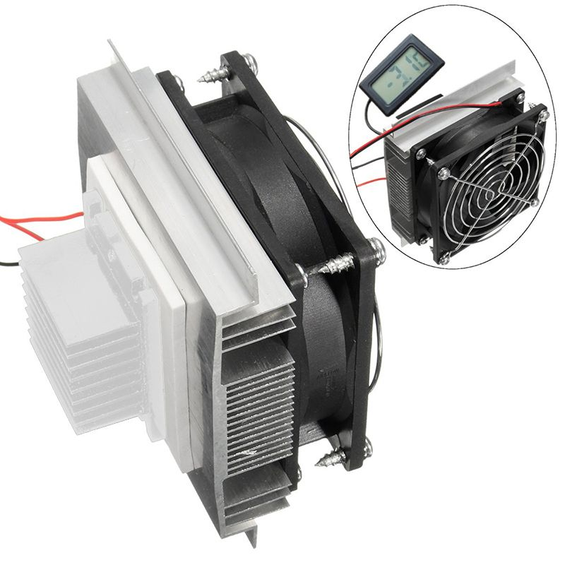 Festnight DIY 12V TEC Electronic Peltier Semiconductor Thermoelectric Cooler Refrigerator Water-Cooling Air Condition Movement Cooling System
