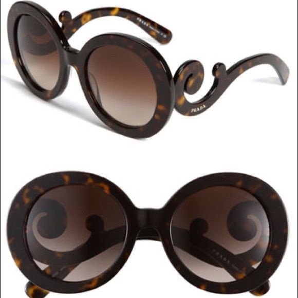 57246c3dc948 3rd 964be 7ae29; best price prada baroque sunglasses prada baroque  authentic sunglasses dark havana brown shade. in excellent