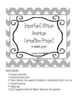 Important African American Research Cereal Box Project