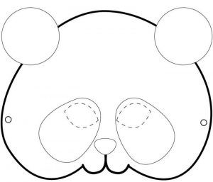 panda mask pattern coloring