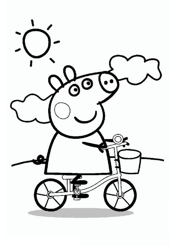 colorear peppa pig  Buscar con Google  dibujos colorear
