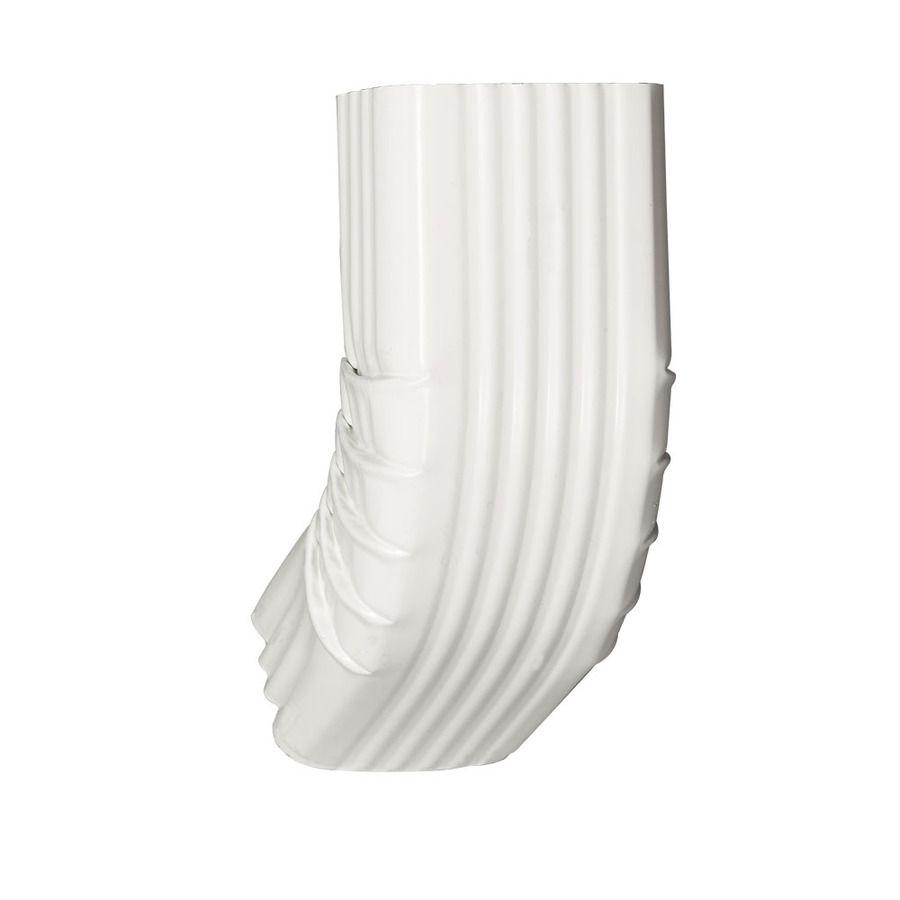 Amerimax 3 25 In White Aluminum Front Elbow Lowes Com Downspout Gutter Guard Downspout Diverter