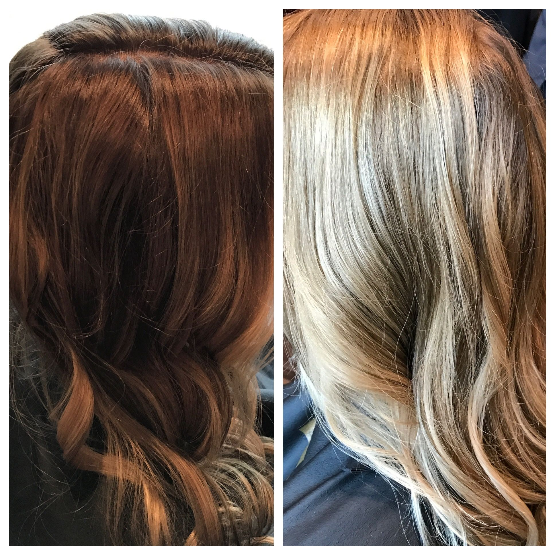 Before And After Look Created Using Blondor And Illumia From Wella Hairbyheatherjune Hair By Heatherjune Pinterest