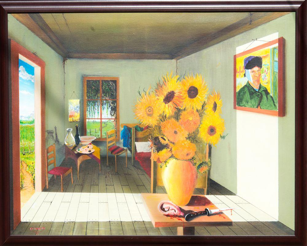 Octaviano Original Vicent Van-Gogh Hand painting  Art surrealism Canvas Acrylic painting surrealistic abstract   #Painting #Canvas #Surrealistic #Abstract #Unique #Original #VanGogh #Surrealism #Handmade #MadeinUSA # Vicent-Van-Gogh-