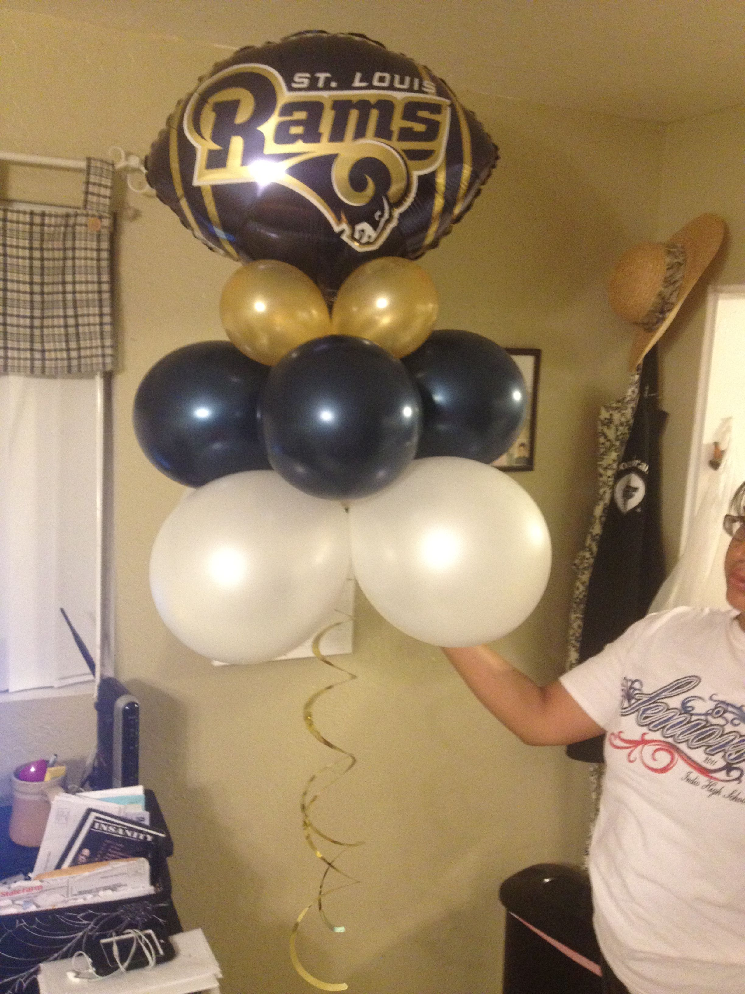 Party Decor St Louis Rams Rams Football Party Football Baby Shower Superbowl Party