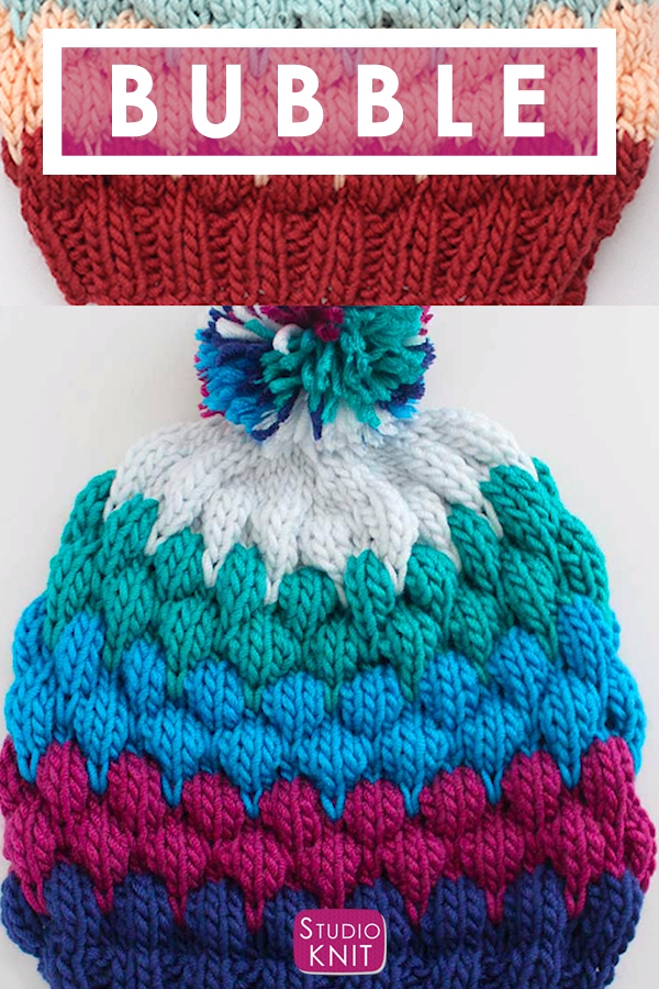 Photo of Bubble Beanie Hat Knitting Pattern