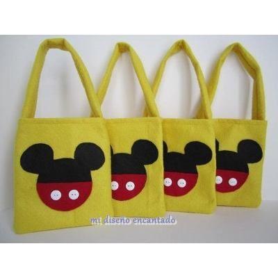 2acd1cf18 (1) Bolsitas Golosineras Tela Cumpleaños Mickey Minnie - $ 200,00 en  MercadoLibre