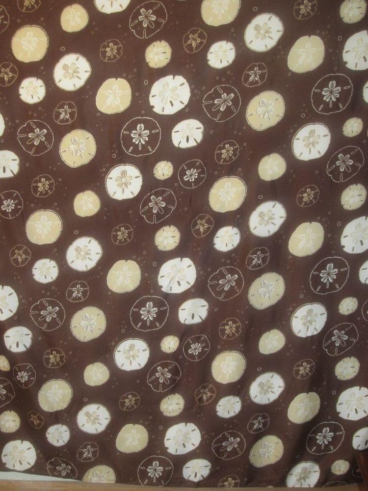 Great Sand Dollar Shower Curtain Color Coffee #ElegantHomeFashions #Modern