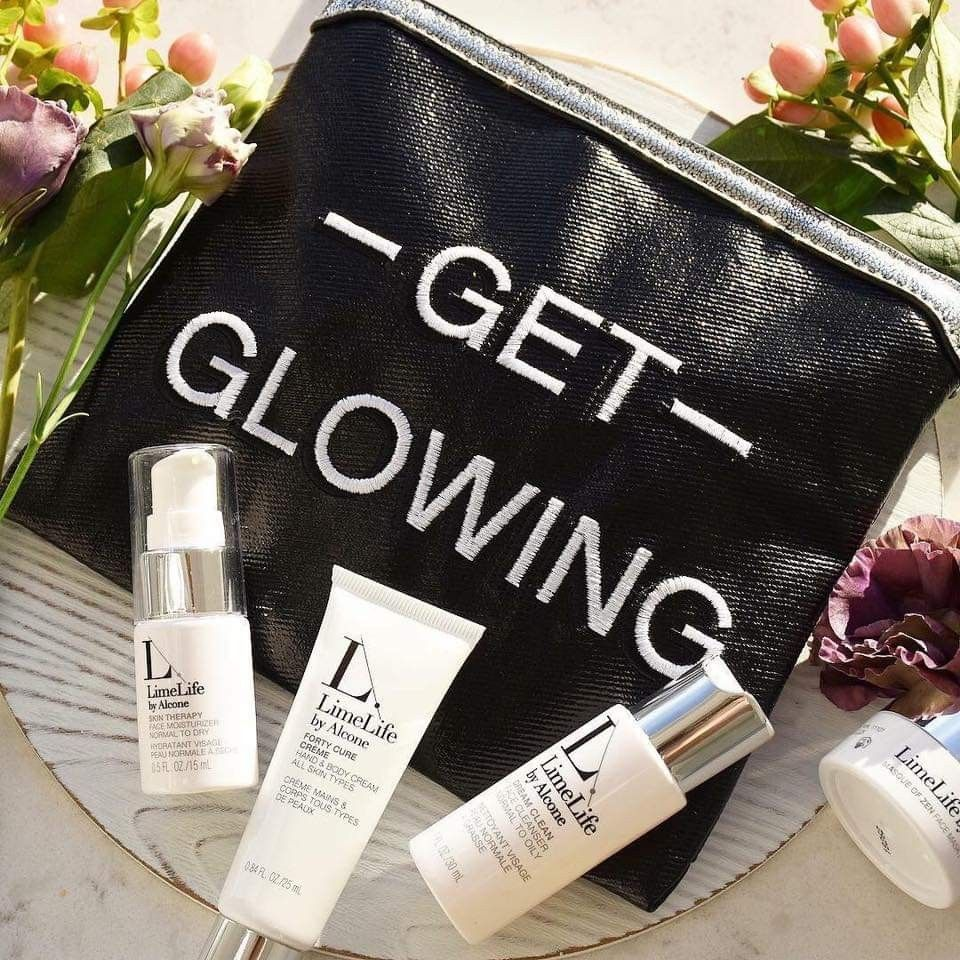 b58bececfc9 The LimeLife get glowing collections are the perfect travel sized skincare  routine for any woman in your life! #allnatural #skincare #travelsized # limelife ...