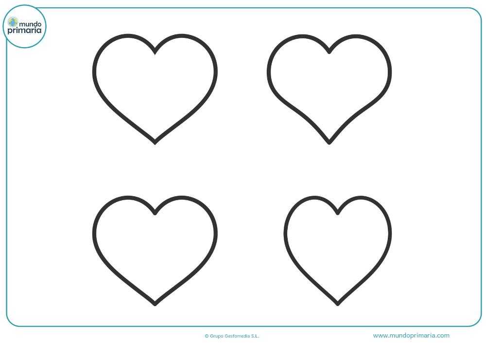 Dibujos De Corazones Descargar E Imprimir En 2020 Dibujos De Corazones Corazones Para Dibujar Corazon Para Colorear