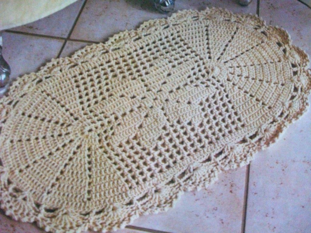 Tapetes de croche frases e imagens tapetes en crochet for Tapetes de crochet