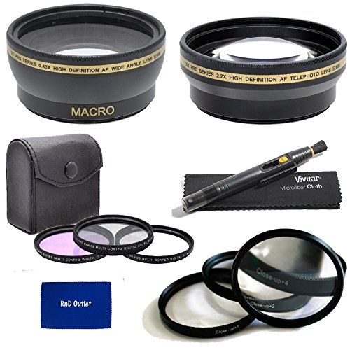 2.2x Telephoto Lens 3 Pieces Filter Set with Deluxe Lens Accessories Kit for Nikon NIKKOR AF-S 70-200mm f//4G ED VR Telephoto Zoom Lens 18-105mm f//3.5-5.6G ED VR AF-S DX 67mm 0.43x Wide Angle Lens
