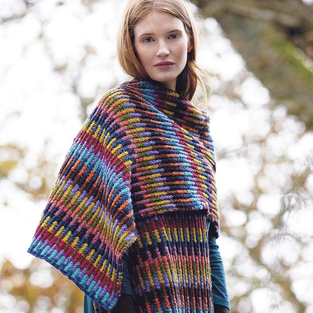 Wrap Yourself In Colour With This Trendy Knitting Pattern | Wealth ...