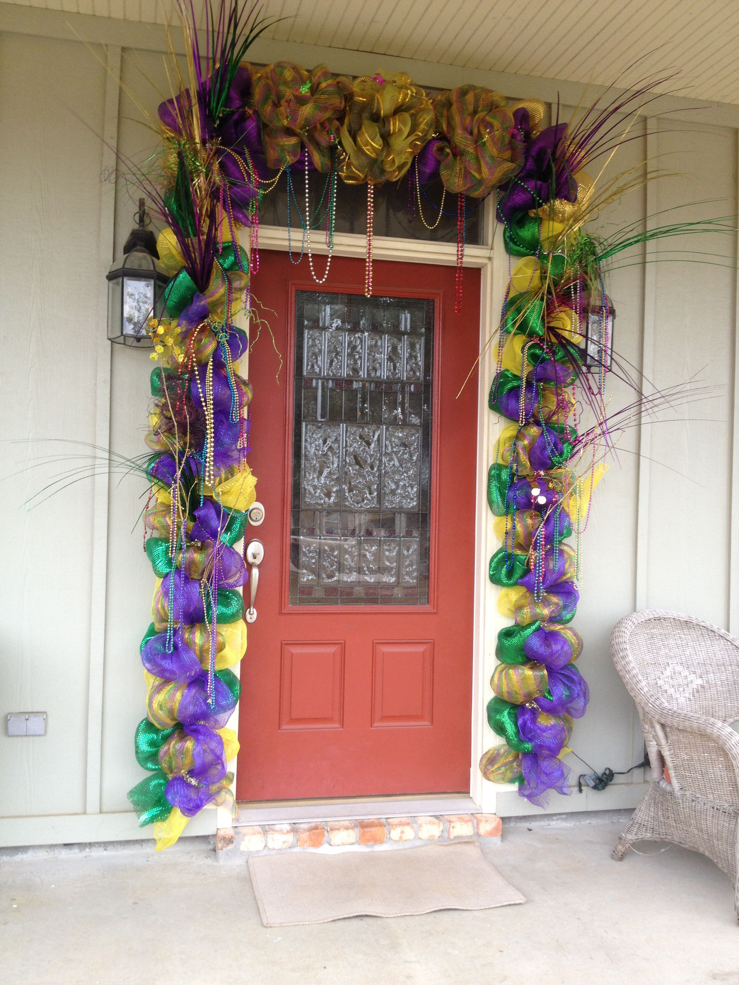 Mardi Gras Front Door Mardi Gras Decorations Madi Gras Party Mardi Gras Party