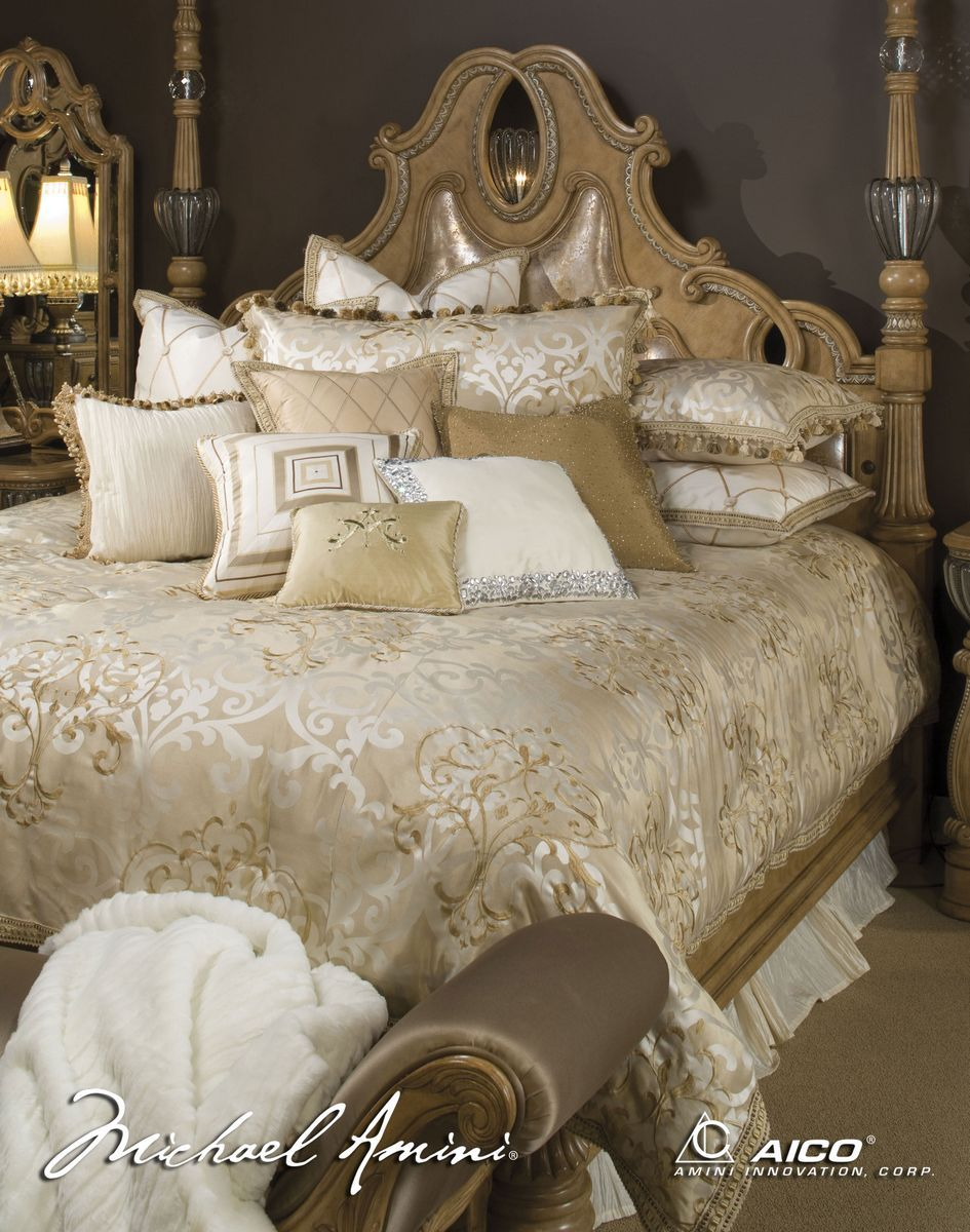 Luxembourg By Michael Amini Exudes Luxury And Lustrous Opulence. The Rich  Tone On Tone Ivory