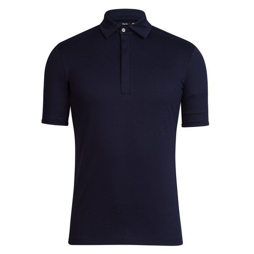 A Cleanly Styled Polo Shirt With Concealed Buttons And A Raised Profile Armband Constructed From A Japanese Milled Quick Drying Cotton Polyester Blend