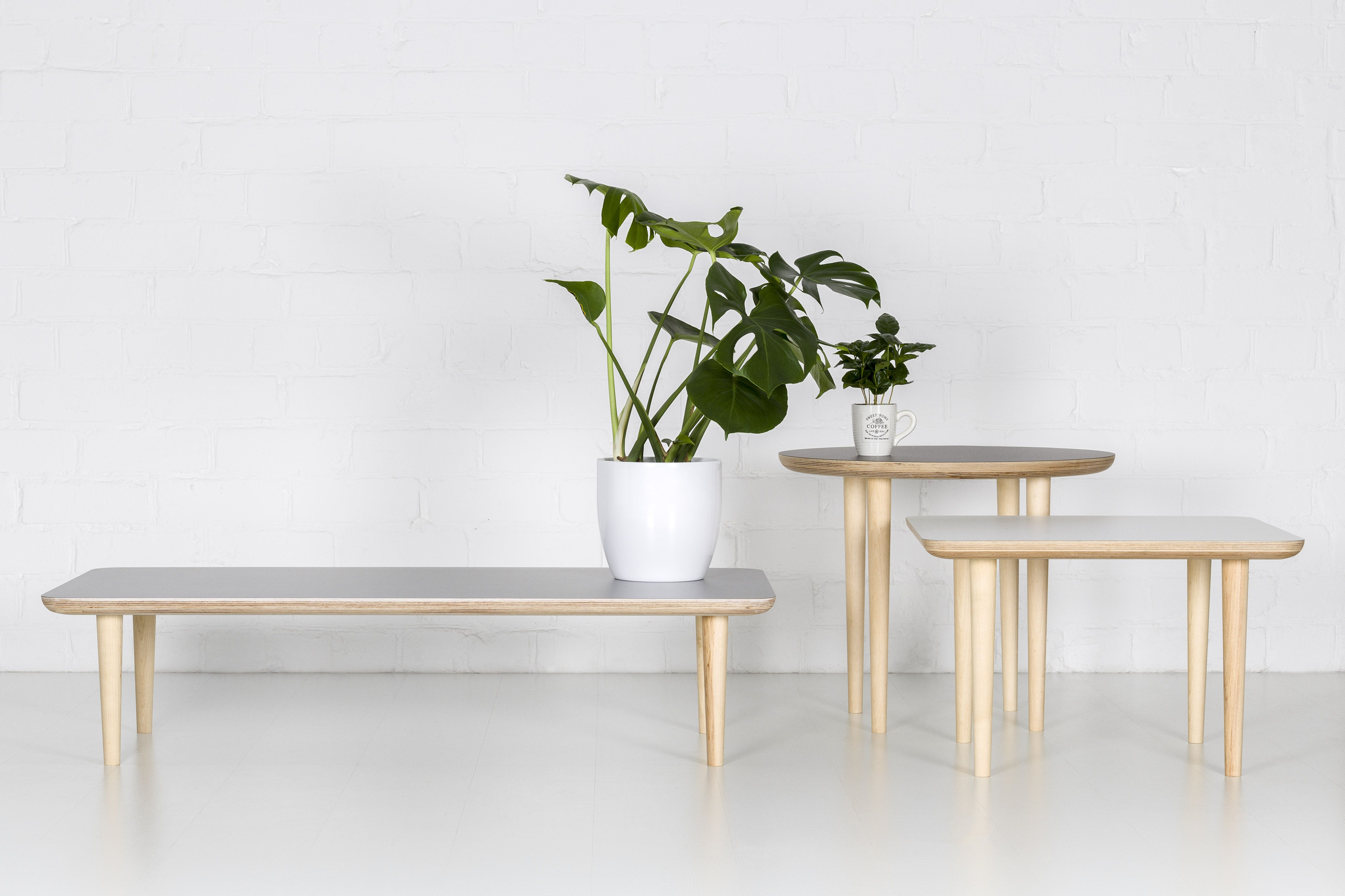 Round, Square, Short Coffee Tables