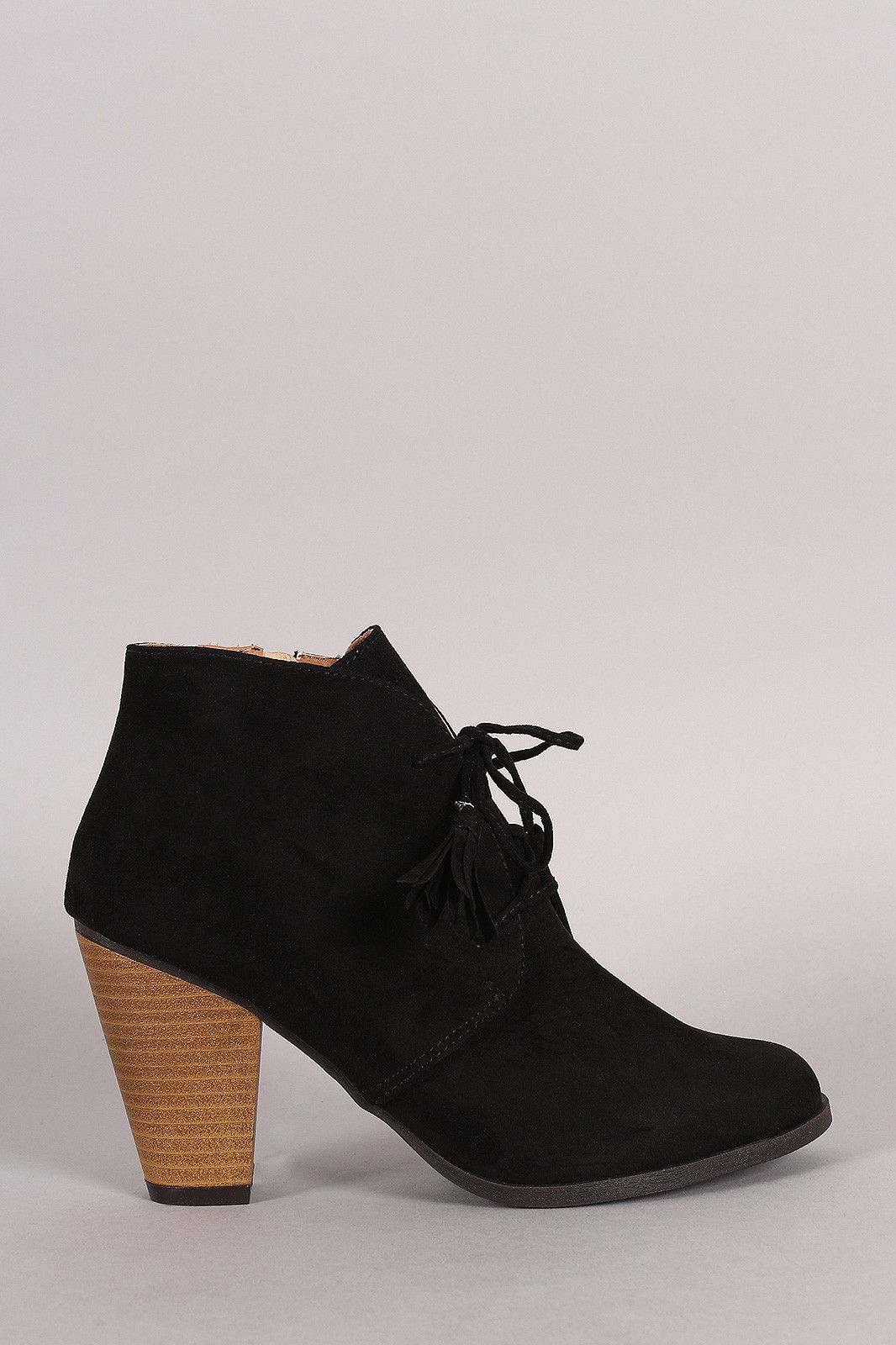 0e0db652c44 Qupid Suede Western Cowgirl Lace Up Ankle Boots