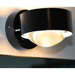 Photo of Top Light Puk Wall wall lamp with clear lens and matt glass, halogen, matt nickel Top LightTop