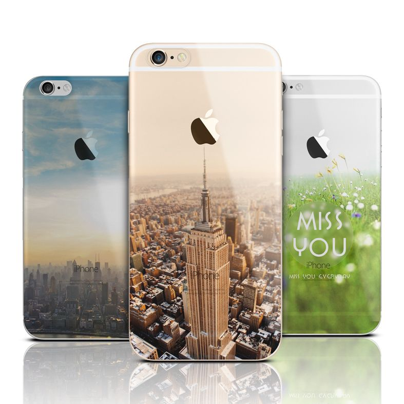 ultra thin soft silicone tpu mountain case cover for apple iphone 6new brand high quality silicon phone case 2 luminous phone back cover for iphone 6 4 7 inch 3 top quality