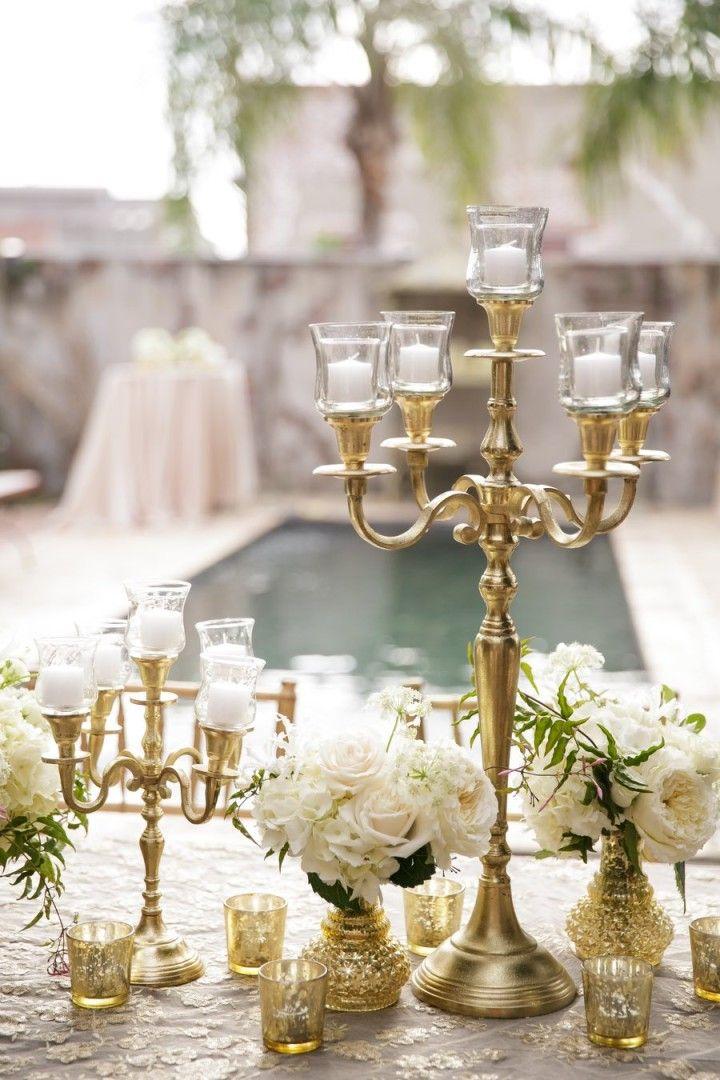 Golden opulence at new orleans wedding gold