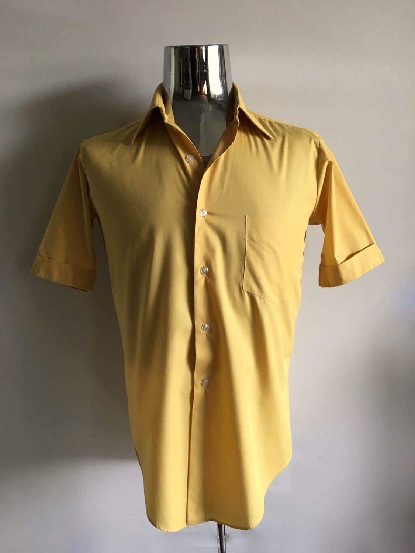 a2cb59c27e3 Vintage Men s 60 s Mustard Yellow
