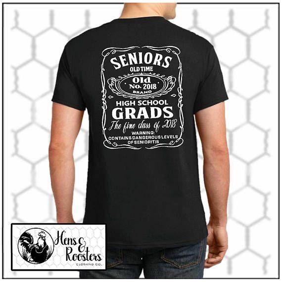 Graduation T-Shirt / Senior Shirt / Class of 2018 T-Shirt / Jack Daniels  Inspired Design - Up to a -