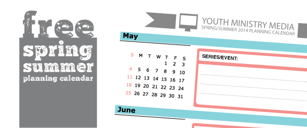 Youth Ministry Calendar Template Choice Image Template Design Free