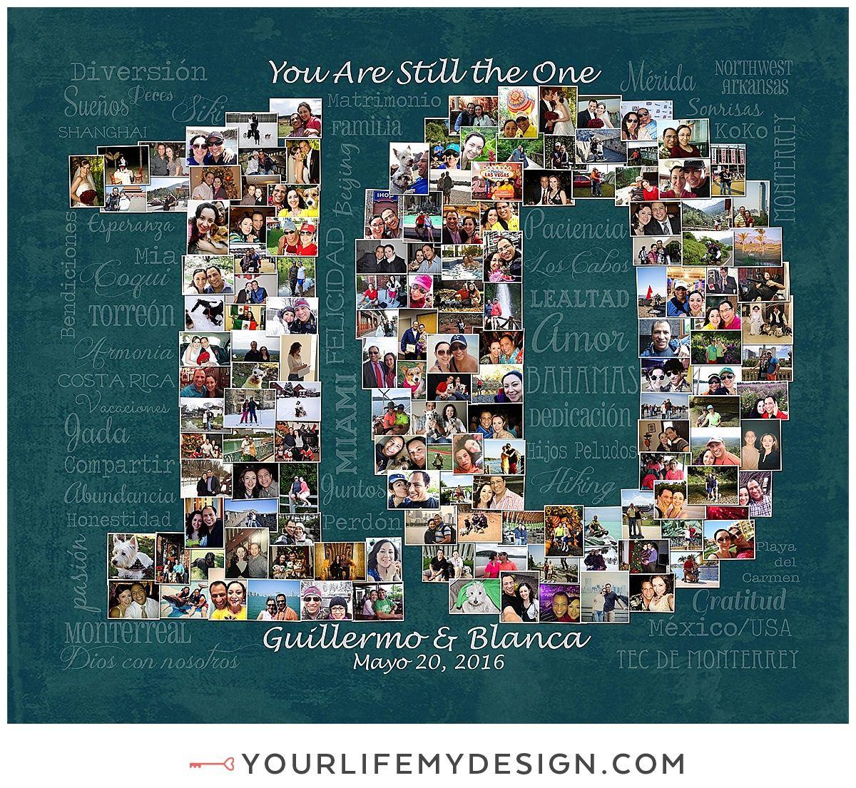 20x24 With 151 Photos 10 Year Anniversary Collage Website 20 GiftsAnniversary DinnerAnniversary IdeasWedding