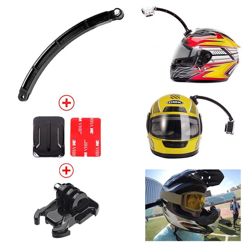 Go Pro Accessories Bicycle Helmet Extension Arm Front Mount Bundle
