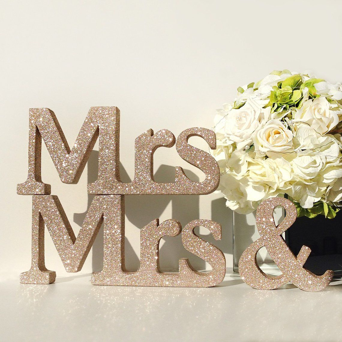 Wedding mr and mrs  signs Wedding Signs glitter Mr and Mrs purple glitter Mr and Mrs wedding decor wood signs Wedding  signs glitter