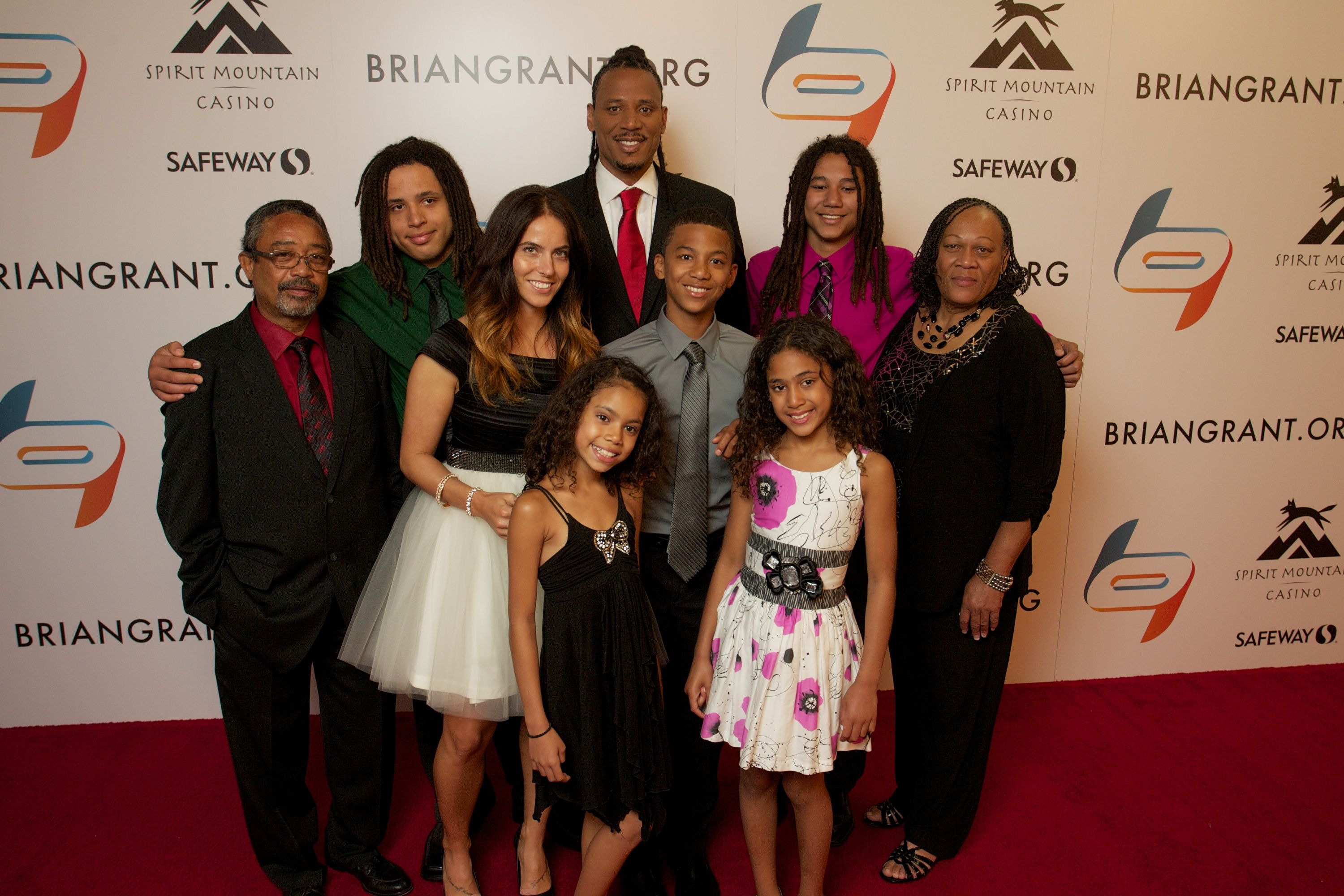 Brian Grant & Family Shake It Till We Make It Celebrity Gala