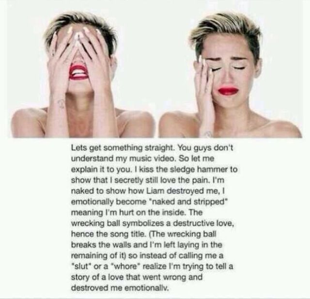 Now I Get It No Hate Towards Miley Because I Dont Send Hate To