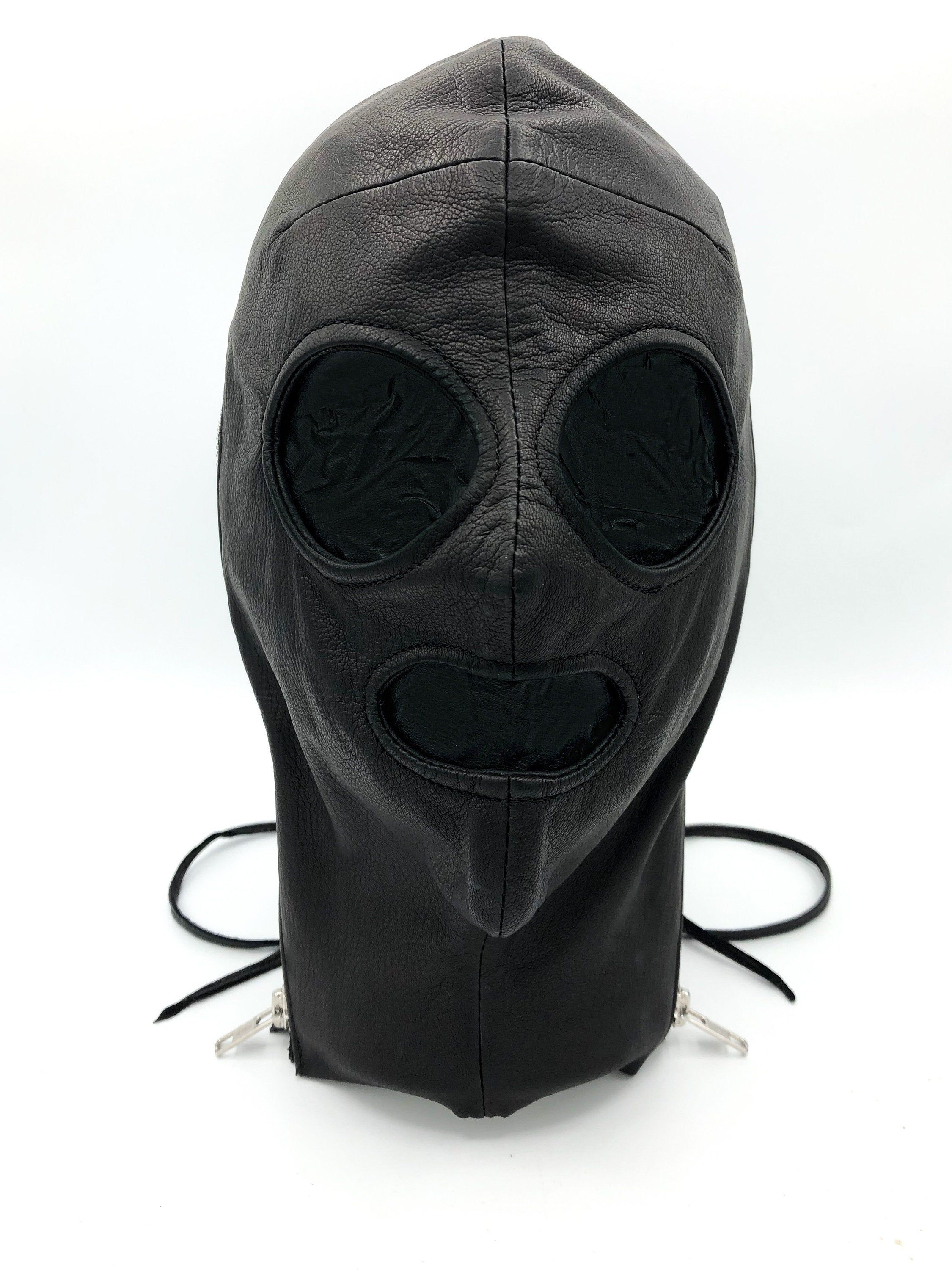 Incognito Black Leather Lace Up Mask Etsy In 2020 Leather Black Leather Leather Mask