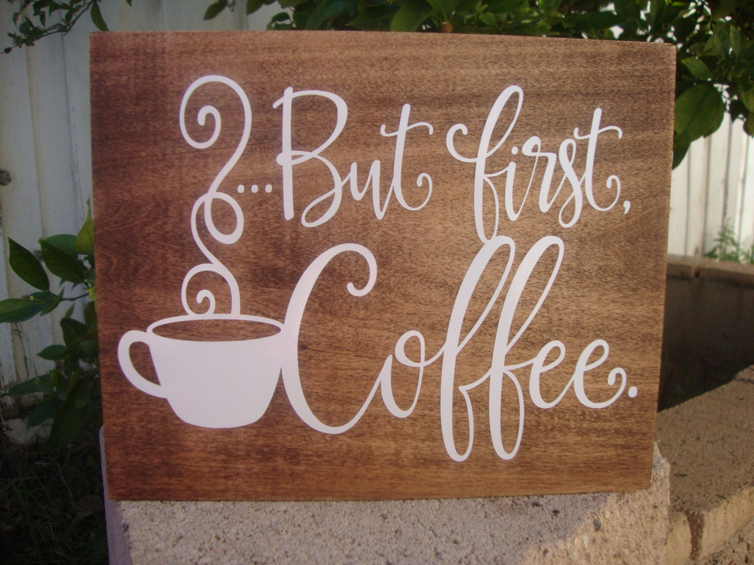 Coffee Signs Kitchen Decor But First Coffee Sign Rustic Wood Kitchen Decor Housewarming