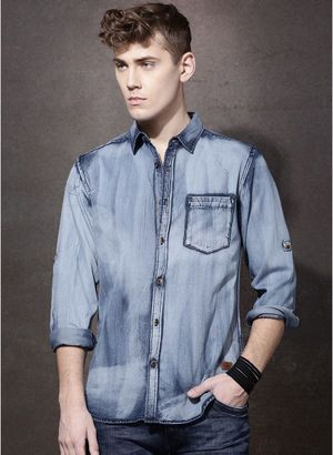 e67640e39db Denim Shirts for Men - Buy Men Denim Shirts Online in India