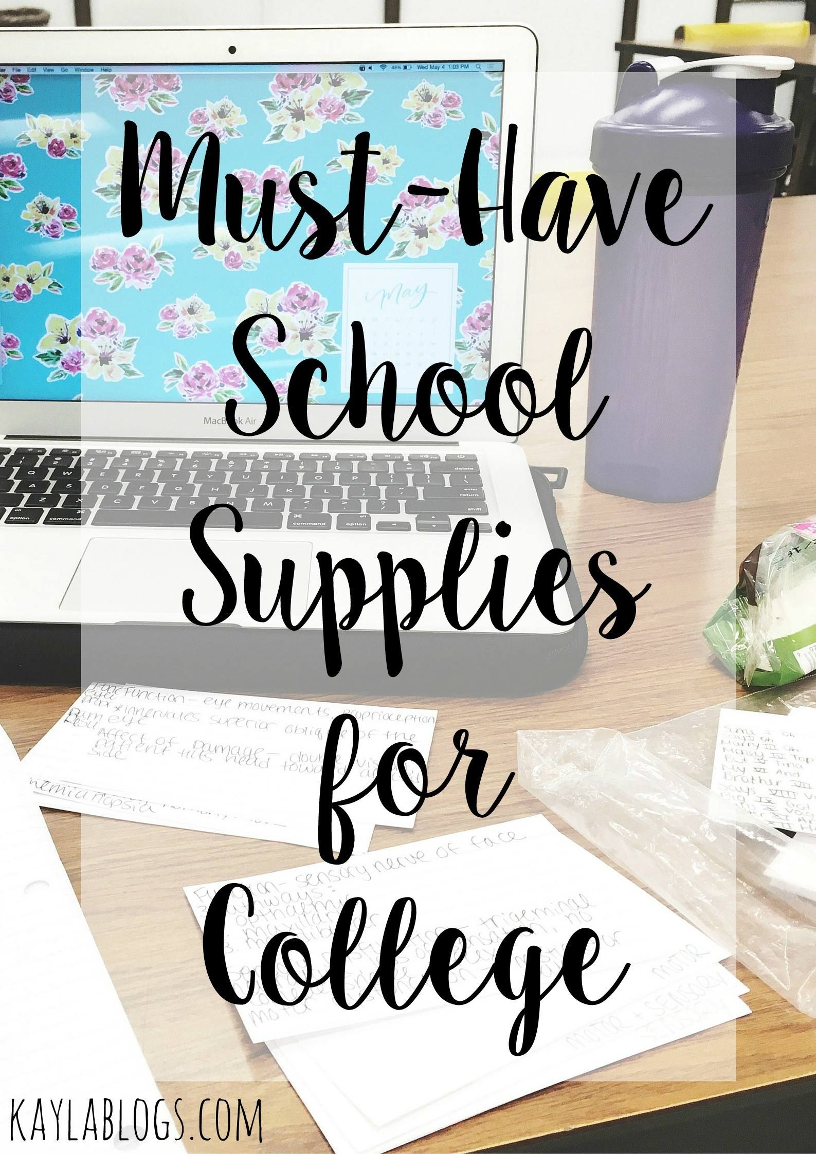 how to ace your college exams new school year school supplies a list of the must have school supplies for college from pencil cases to staplers