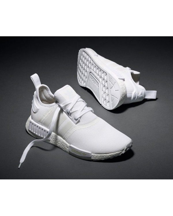 Fashion Adidas Originals NMD White Men Shoes Hot Sale £55.60