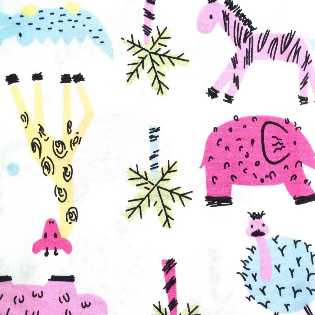 140cm wide Adorable Elephants 100/% Cotton Fabrics nursery kids 4 colours
