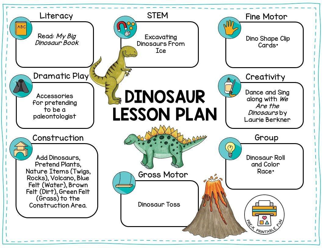 Free Dinosaur Lesson Plan Dinosaur Activities Preschool Dinosaurs Preschool Dinosaur Lesson [ 816 x 1056 Pixel ]