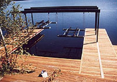 Wet Slip Boat Lifts | Dock Design Ideas | Pinterest | Boat lift ...