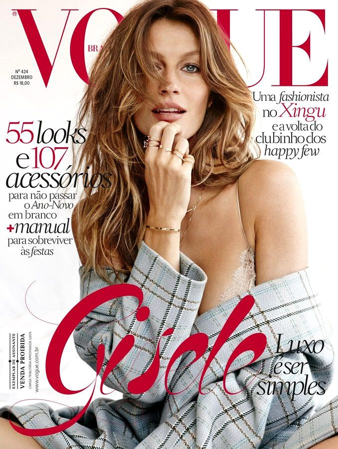 Supermodel Gisele Bündchen @giseleofficial stars as a cover girl for the December issue of Vogue Brasil @VogueBRoficial, photographed by Giampaolo Sgura @giampaolosgura and styled by fashon editor Yasmine Sterea @yasminesterea.