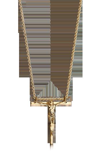 His Men S 14k Gold Hanging Crucifix Cross Necklace Mens Gold Crucifix Necklace Men Necklace Mens Accessories Fashion